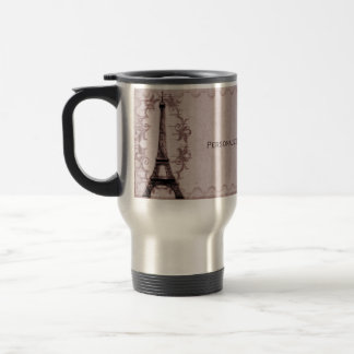 Pink Paris Grunge Travel Mug