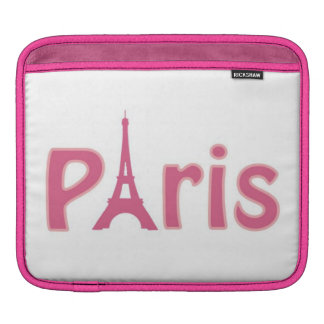 Pink Paris Ipad Sleeve