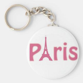 Pink Paris Keychain