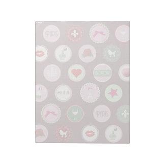 Pink Paris love girly pattern Notepad