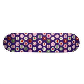 Pink Paris love girly pattern Custom Skate Board