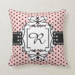 Pink Paris Polka Dot Fantasy Retro Style Pillow Throw Cushions