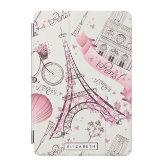 Pink Paris Stylish Eiffel Tower iPad Mini Cover