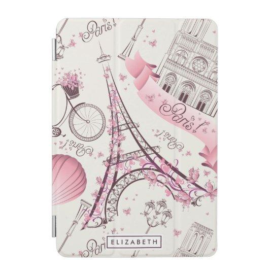 Pink Paris Stylish Eiffel Tower iPad Mini Cover