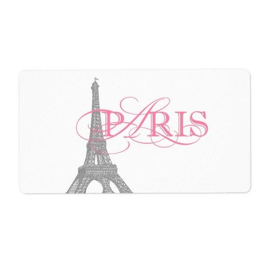 Pink Paris Water Bottle