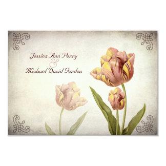 Pink Parrot Tulip Response Card