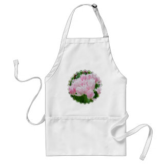 Pink Parrot Tulips Apron
