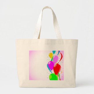 Pink Party Background Large Tote Bag