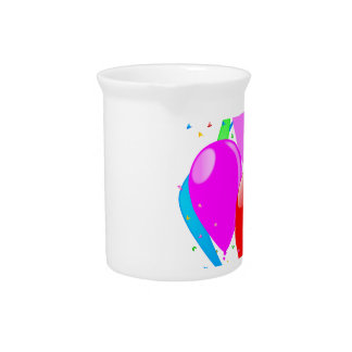 Pink Party Background Pitcher