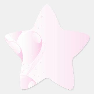 Pink Party Background Star Sticker