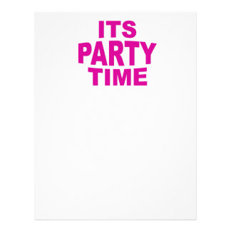 Pink Party Time 21.5 Cm X 28 Cm Flyer