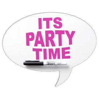 Pink Party Time Dry-Erase Whiteboard