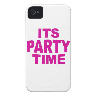 Pink Party Time iPhone 4 Case-Mate Case