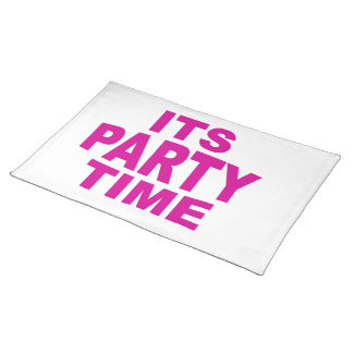 Pink Party Time Placemats
