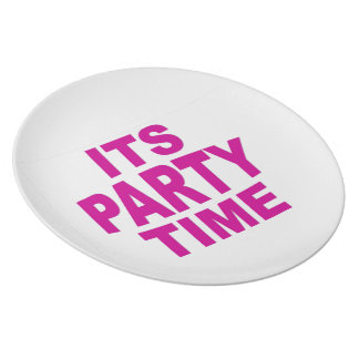 Pink Party Time Plates