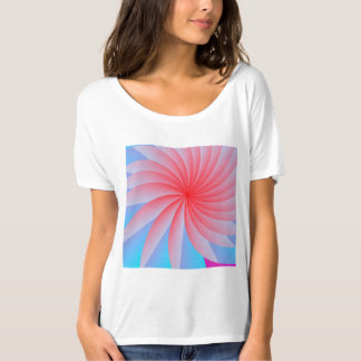 Pink Passion Flower Slouchy Boyfriend T-Shirt