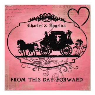 Pink Passion From This Day Forward  Wedding Invite