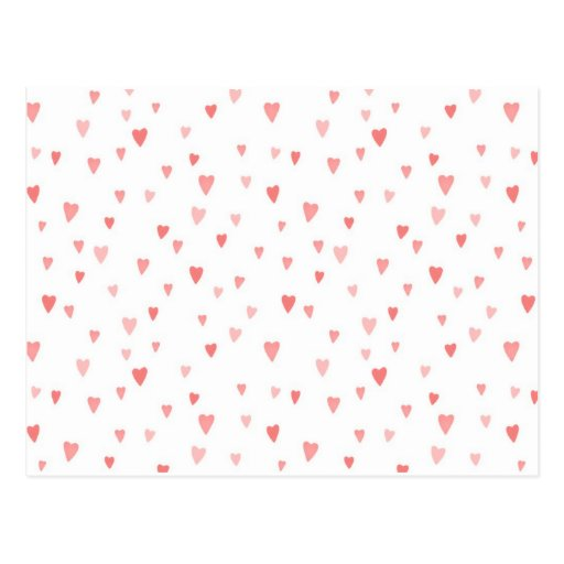 PINK PASSION HEARTS POST CARDS