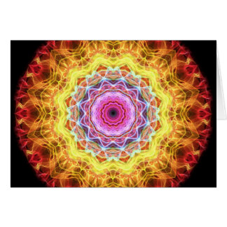 Pink Passion kaleidoscope Greeting Cards