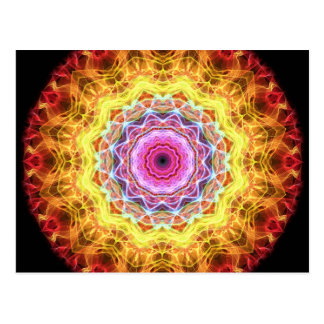 Pink Passion  kaleidoscope Postcard