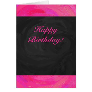 Pink Passion Personalized Greeting Card