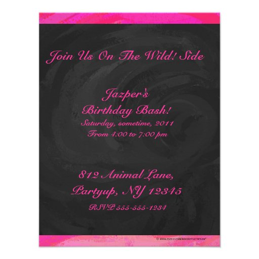 Pink Passion Personalized Personalized Announcement