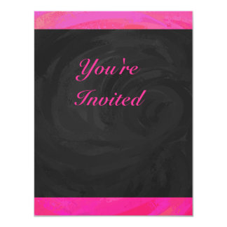 "Pink Passion Personalized 4.25"" X 5.5"" Invitation Card"