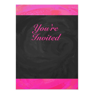 """Pink Passion Personalized 5.5"""" X 7.5"""" Invitation Card"""