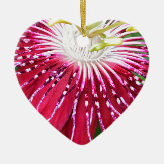 Pink Passionflower Dble-sided Heart Ornanent Christmas Ornament