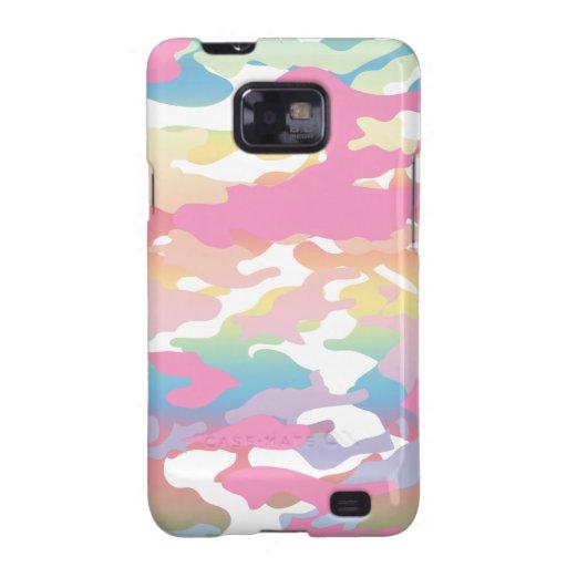 Pink Pastel Camo Pattern Samsung Galaxy SII Cases