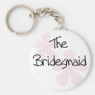 Pink Pastel Flowers Bridesmaid Key Chain