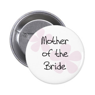 Pink Pastel Flowers Mother of Bride Buttons
