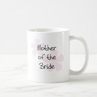 Pink Pastel Flowers Mother of Bride Coffee Mug