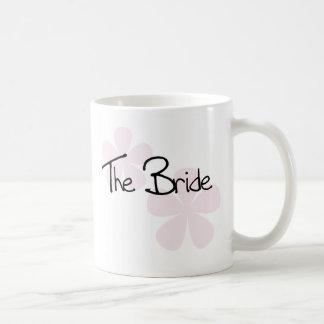 Pink Pastel Flowers The Bride Coffee Mug