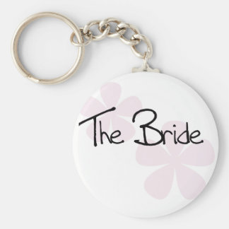 Pink Pastel Flowers The Bride Key Chain