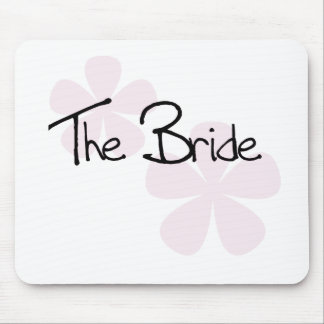 Pink Pastel Flowers The Bride Mouse Pad