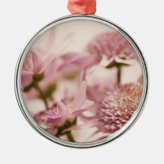 Pink Pastel Wildflowers Photograph Christmas Tree Ornament