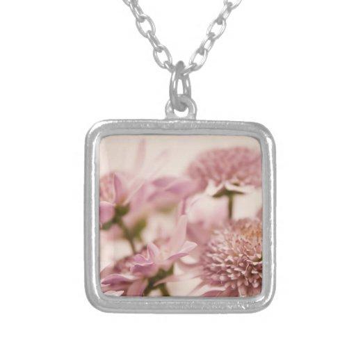 Pink Pastel Wildflowers Photograph Pendants