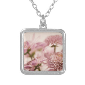 Pink Pastel Wildflowers Photograph Pendants