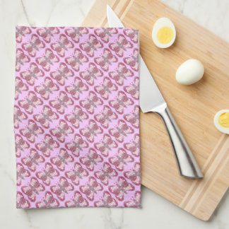 Pink Patchwork Butterfly Kitchen/Tea Towel