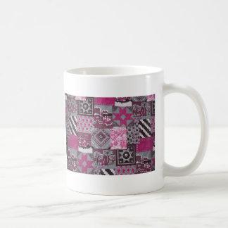 Pink Patchwork Coffee Mug