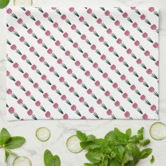 Pink Patchwork Tulip Kitchen / Tea Towel Kitchen Towel