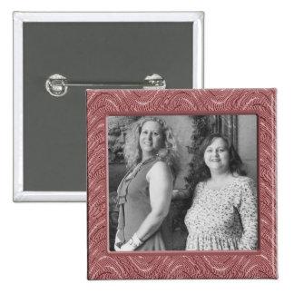 pink pattern 15 cm square badge