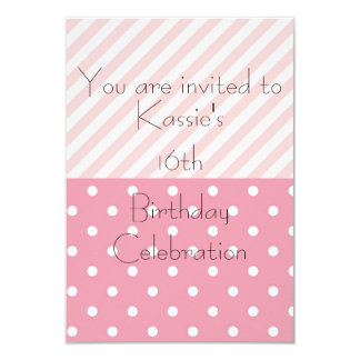Pink Pattern Birthday Invitation Template