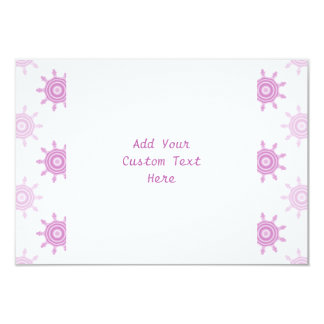 Pink Pattern. Fractal Circles. Card