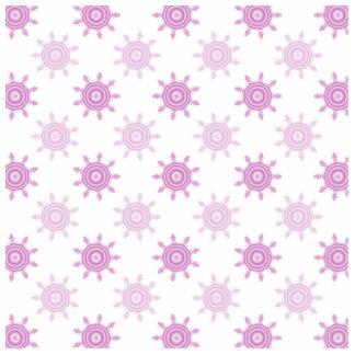 Pink Pattern. Fractal Circles. Photo Sculpture Badge