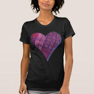 Pink Pattern Heart  T Shirt