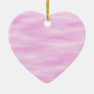 Pink pattern. Soft waves, clouds. Christmas Ornament