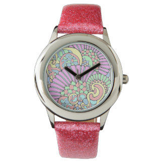 pink pattern watch