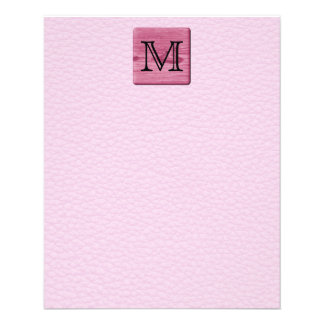 Pink Patterned Image, with Custom Monogram Letter Custom Flyer